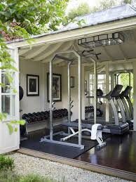 home exercise room decorating ideas home gym decor elegant warm and inviting pine paneled rustic home