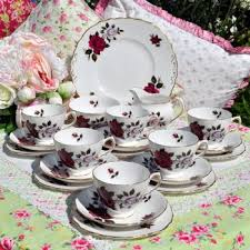 vintage tea set tea set service vintage mismatched bone china