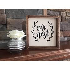 our nest sign housewarming gift farmhouse decor farmhouse sign