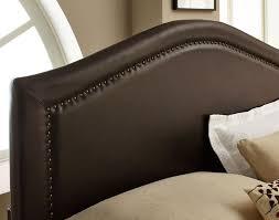 leather headboard king nailhead looks elegant leather headboard