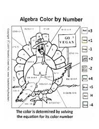 thanksgiving algebra color by number by scorton creek publishing
