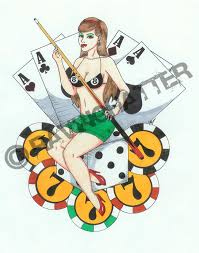 lady luck tattoo flash pictures to pin on pinterest tattooskid