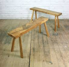 Farm Benches - vintage industrial solid elm rustic farm bench seat cafe shop