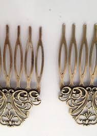 vintage hair combs vintage hair combs gold x 2