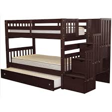 Bunk Bed Pic by Bedz King Stairway Bunk Bed Twin Over Twin And Twin Trundle In