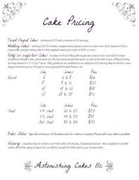 cake serving guide also depends on your area this is 4 50 per