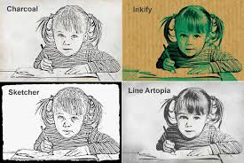 cartoon drawing effect tag photo editor pencil drawing effect