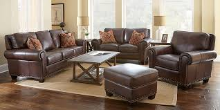 Leather Reclining Living Room Sets Brilliant Impressive Leather Living Room Furniture Sets Brown Set