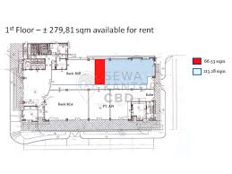 bca floor plan sewa kantor kobexindo tower jakarta utara office space for