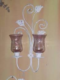 Glass Wall Sconce Candle Holder New Huge 39