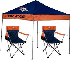 tent chair denver broncos rawlings canopy tent chair set