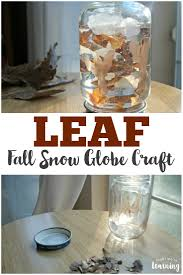 easy fall snow globe craft for kids