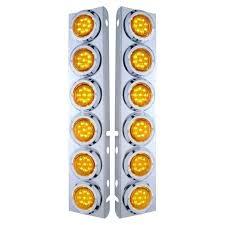 peterbilt air cleaner lights peterbilt 379 front air cleaner light bar with leds oem ready plug