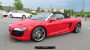 Audi R8 V10 Spyder - 2012 audi r8 5 2 fsi v10 spyder start up exhaust and in depth