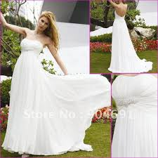 maternity wedding dresses 100 100 gurantee strapless white chiffon bridal dress beaded empire