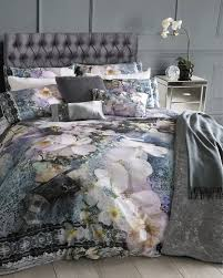 tile floral superking duvet cover navy bed linen ireland site