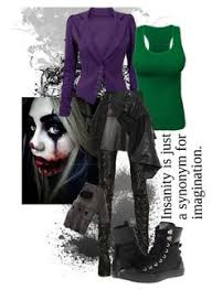 Womens Joker Halloween Costume Female Joker