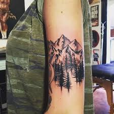 27 mountain tattoos on shoulder