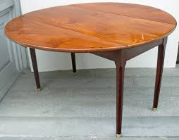 Wood Drop Leaf Table 19th Century French Mahogany Round Drop Leaf Table For Sale At 1stdibs