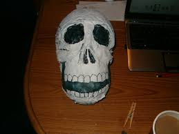 paper mache skull halloween decoration 7 steps