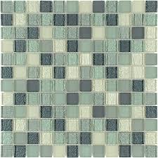 kitchen backsplash at lowes shop elida ceramica summer breeze uniform squares mosaic glass