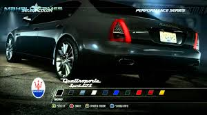 maserati tron need for speed pursuit cars maserati quattroporte sport gts