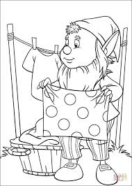 clothes coloring pages big ears hangs the freshly washed clothes coloring page free