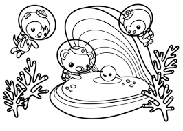 The Octonauts Find A Happy Pearl Coloring Page Free Printable Octonauts Coloring Pages