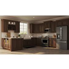 home depot kitchen cabinets brands hton assembled 36x34 5x24 in sink base kitchen cabinet in cognac