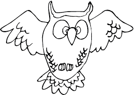 cartoon owl coloring pages clip art library