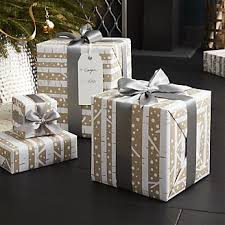 clearance christmas wrapping paper christmas wrapping paper ribbon tags crate and barrel