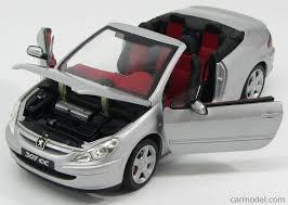 peugeot 307 cc solido so8148s scale 1 18 peugeot 307 cc cabriolet 2003 silver