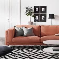 nockeby sofa hack nockeby loveseat tallmyra rust wood living rooms room and rust