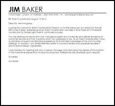 event director cover letter