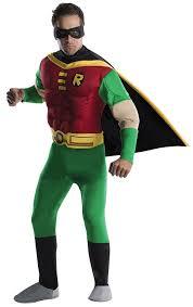 arkham city robin halloween costume amazon com dc comics deluxe muscle chest robin costume