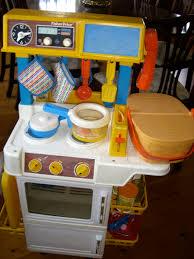 Toy Kitchen Set Food Fisher Price Play Kitchen 1987 Nostalgia Pinterest Fisher