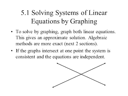 5 1 solving systems of linear equations by graphing