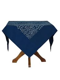 indigo tablecloth linens kitchen tablecloths beautiful cornell