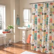 Coral And Turquoise Curtains M Style Mod Blocks Shower Curtain In Coral Turquoise
