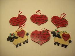 8 wooden handmade hand painted country christmas ornaments hearts