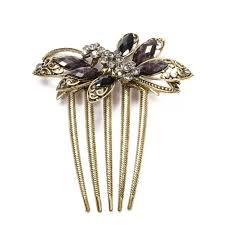 hair brooch hair accessories vintage hair comb bridal butterfly