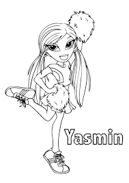 bratz coloring pages yasmin free printable girls coloring
