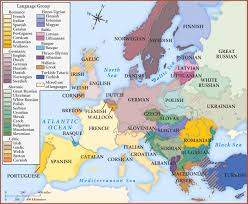 Europes Map by Europe Language Groups In 1815 Full Size