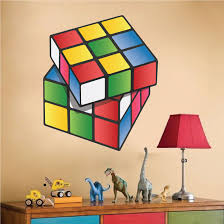 popular items for kids room wall art on etsy rubiks cube decals