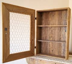 Chicken Wire Cabinet Doors Country Rustic Cabinet With Chicken Wire And Scalloped Cera
