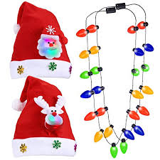 christmas light necklace christmas hat 2pack christmas light necklace 2pack konsait