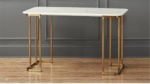 Steel Frame Desk Dahlia Marble Desk Cb2