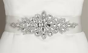 bridal belt wholesale opulent white satin bridal sash with starburst