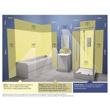 hib aztec led bathroom mirror with shelf