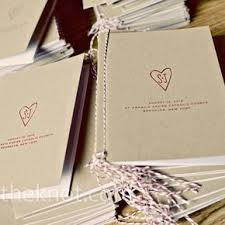kraft paper wedding programs brown wedding programs